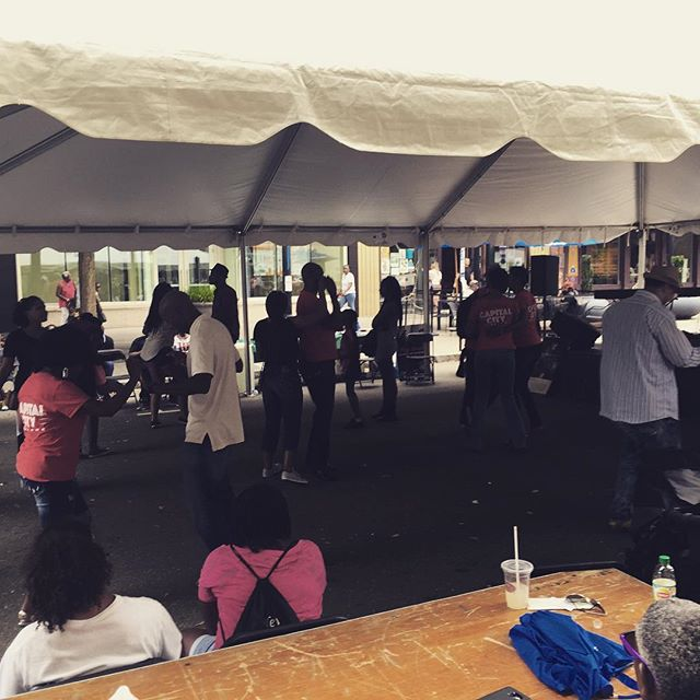 End of 2nd demo / workshop at #africanamericanculturalfestival #capitalcitysteppers #dance #chicagosteppin